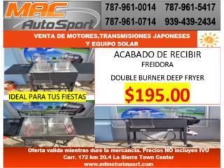 FREIDORA DOBLE , Mf motor import Puerto Rico
