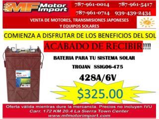 BATERIA TROJAN 428A/6V, Mf motor import Puerto Rico