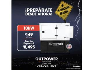 10KW PERKINS 1800RPM - STAMFORD CON 100GAL., OUTPOWER ENERGY CORP. Puerto Rico