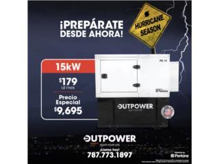 15KW PERKINS CON 3 AÑOS DE  GARANTÍA , OUTPOWER ENERGY CORP. Puerto Rico