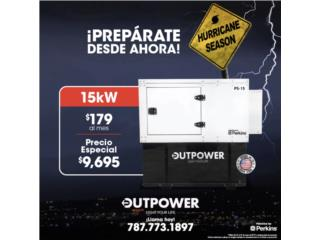 15KW PERKINS - STAMFORD 100GAL., OUTPOWER ENERGY CORP. Puerto Rico