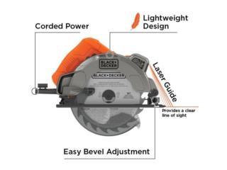CIRCULAR SAW 7-1/4 CON LASER BLACK AND DECKER, RB TOOLS & EQUIPMENT Puerto Rico