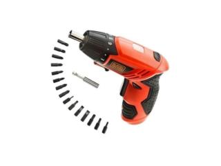 SCREWDRIVER W/BITS 4.8V BLACK AND DECKER, RB TOOLS & EQUIPMENT Puerto Rico