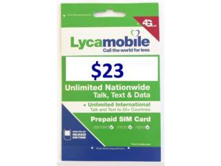 Lycamobile 2GB LTE llamadas y roaming., Cellphone's To Go Puerto Rico