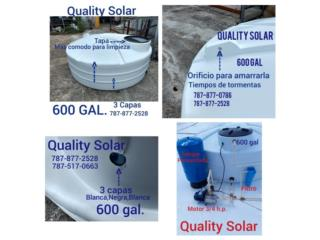 CISTERNAS 600 GAL INST. AUTOMATICA, Quality Solar System 787-517-0663  Puerto Rico