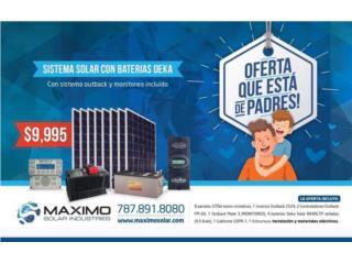 Sistema Solar 2.96 KW DC con equipo Outback, MAXIMO SOLAR INDUSTRIES Puerto Rico