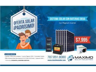 Sistema de 2.22 KW DC con Magnum inverter, MAXIMO SOLAR INDUSTRIES Puerto Rico