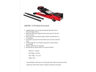 3.5 Ton Steel Service Jack,  Sunex, Vulcan Tools Caibbean Inc. Puerto Rico