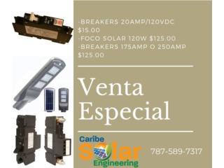 Breakers 175amp o 250amp, Caribe Solar Engineering Puerto Rico