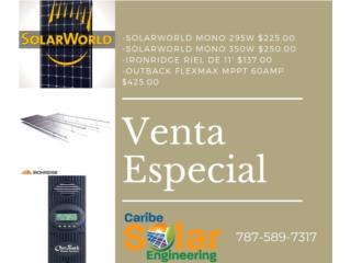 Placa Solar World 295W, Caribe Solar Engineering Puerto Rico