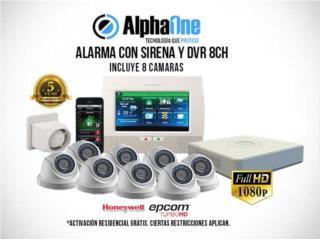 San Juan-Santurce Puerto Rico Sistemas Seguridad - Camaras, Oferta de alarma con 8 cámaras HD y bono