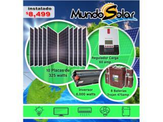 San Juan-Santurce Puerto Rico Herramientas, Sistema solar completo instalado $8,499