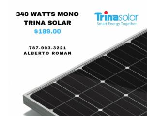 Panel Solar Mono 340W Trina Solar, MAXIMO SOLAR INDUSTRIES Puerto Rico