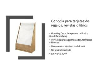 Gondola de tarjetas, revistas o libros, Gondolas PR Puerto Rico