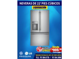 Neveras en Liquidación de 22 pies cúbico, Mattress Discount Center Puerto Rico