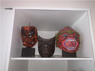 Surtido de máscaras artesanales, Sucesion Wood Vicente Puerto Rico