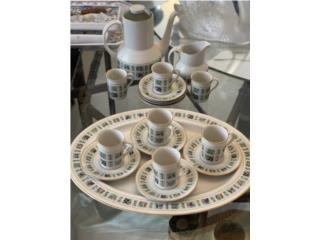 Set de café para 6 personas, Sucesion Wood Vicente Puerto Rico