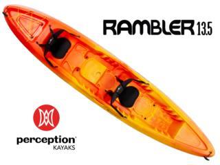 Perception Rambler 13.5 kayak- Sunset color, KANOA kayaks Puerto Rico