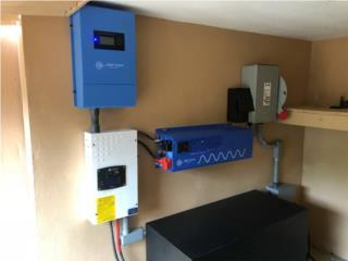 Kit Solar OFF-GRID 6,000w, PowerComm, Inc 7878983434 Puerto Rico