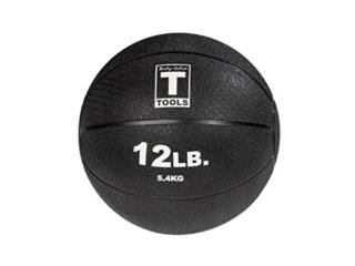 Medicine Ball - 12lb Black Body Solid BSTMB12, Healthy Body Corp. Puerto Rico