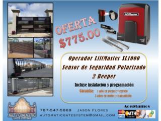 Motor para Porton Electrico - Instalado, Automatic Gate System Puerto Rico