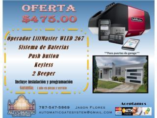 Motor para Puerta de Garage - Instalado, Automatic Gate System Puerto Rico