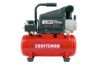 Compresor Craftsman 135psi 1HP 3Galones, Cashex Puerto Rico