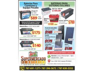 Bateria de 6V / 225 Ah para sistemas solares, Supermercado de Baterias y Sistemas Solares Puerto Rico