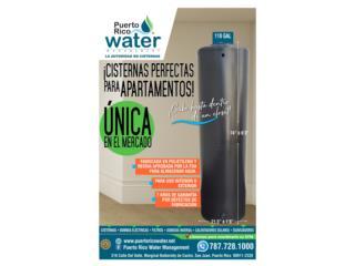 Cisterna 110 galones - cabe en un clóset, Puerto Rico Water Puerto Rico