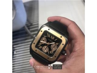 Cartier Santos XL Ceramic / 18k Gold, CHRONO - SHOP Puerto Rico