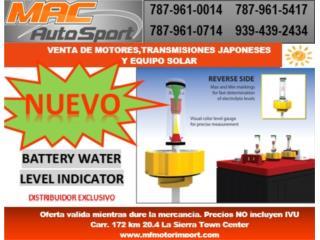 BATTERY WATER LEVEL INDICATOR, Mf motor import Puerto Rico