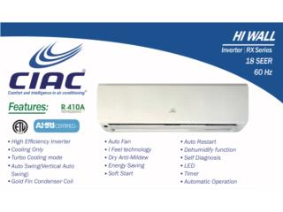 Ciac by carrier 12,000btu inverter, Comfort House Air Conditioning Puerto Rico