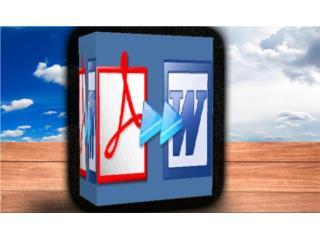 PDF2WORD ((( CONVIERTE DE PDF A WORD ))), MK COMPUTER Puerto Rico