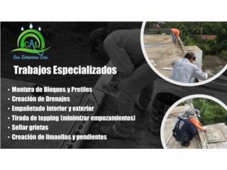 Filtración en el techo - Sellado - Selladores, CAL One Enterprises  787-925-2222/ 787-964-5555 Puerto Rico