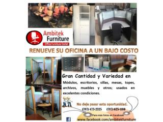 VARIEDAD DE MOBILIARIO DE OFICINA USADO, AMBITEK FURNITURE Puerto Rico