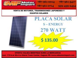 PLACA SOLAR 270 WATT, Mf motor import Puerto Rico