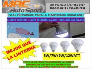 BOMBILLAS RECARGABLES 5W,7W.9W Y 12 W, Mf motor import Puerto Rico