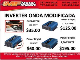 VARIEDAD INVERTER ONDA MODIFICADA, Mf motor import Puerto Rico