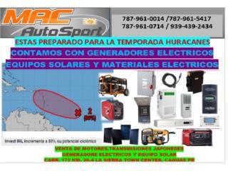 CONTAMOS CON EQUIPO SOLAR Y MATERIALES ELECTR, Mf motor import Puerto Rico