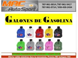 GALONES DE GASOLINA VP RACING, Mf motor import Puerto Rico