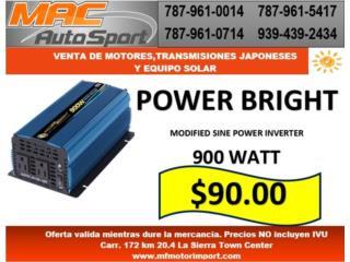 INVERTER POWER BRIGHT 900 WATT, Mf motor import Puerto Rico
