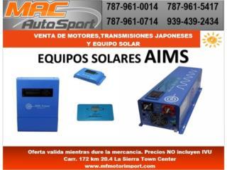 EQUIPOS SOLAR AiMS, Mf motor import Puerto Rico