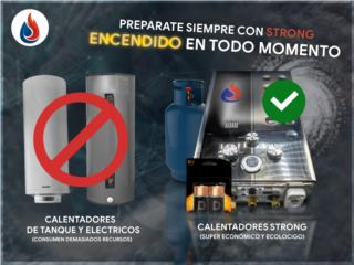 JSD12-B01 calentador de gas y baterias, Strong Corp Puerto Rico