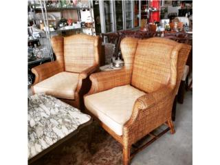 Baker Furniture, Wicker Wing Chair, The Pickup Place Puerto Rico