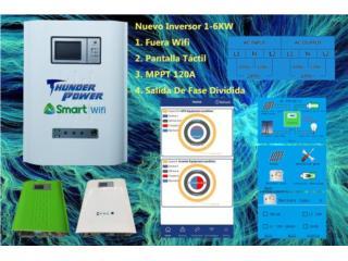 THUNDER POWER 6K MPPT 120AMPS WIFI, FIRST TECH SOLAR Puerto Rico