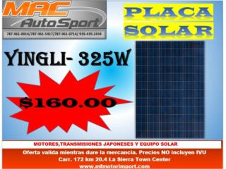 PLACA SOLAR YINGLI 325 WATTS, Mf motor import Puerto Rico