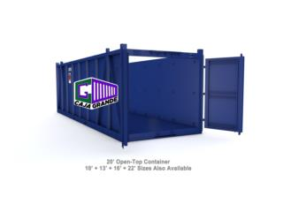 20' Open Top Container 20% OFF!!, Caja Grande Puerto Rico
