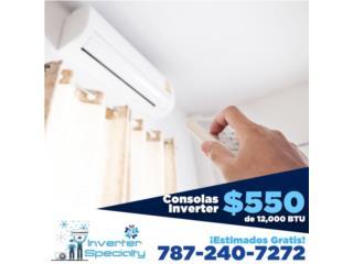 Consolas Inverter 12 BTU 19 seer 7872407272, Inverter Store & Supplies Puerto Rico
