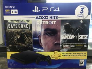 PlayStation 4 1tb 3 juegos , PALACIO DE ORO Puerto Rico
