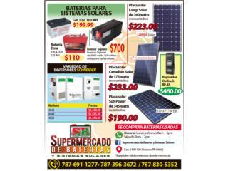 Panel solar de 345 watts / Sun Power, Supermercado de Baterias y Sistemas Solares Puerto Rico